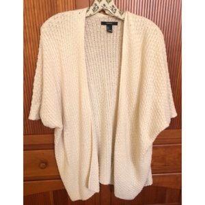 Forever 21 Cream Kimono Sweater S
